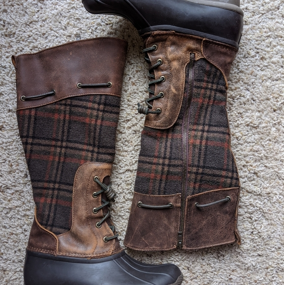 Saltwater Tall Wool Plaid Duck Boots